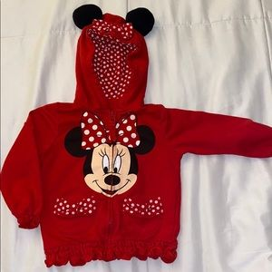 Disney Minnie mouse zip up hoodie